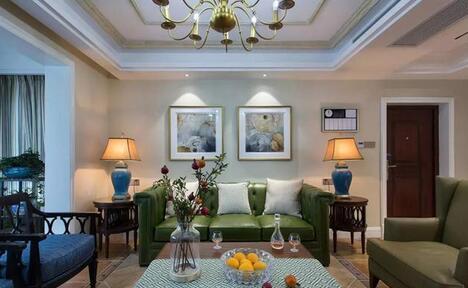 30万装修140㎡的三居室,美式风格,禅意十足