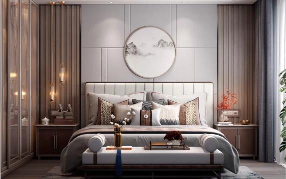 软装设计 卧室背景墙这样设计时尚温馨又耐看