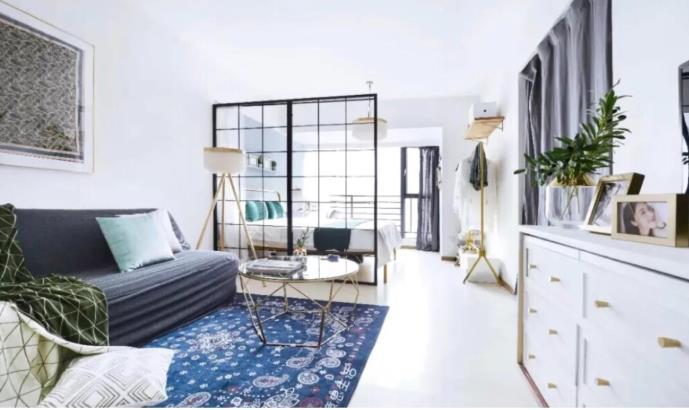 家居改造,19㎡一居室变身轻奢风N居室!