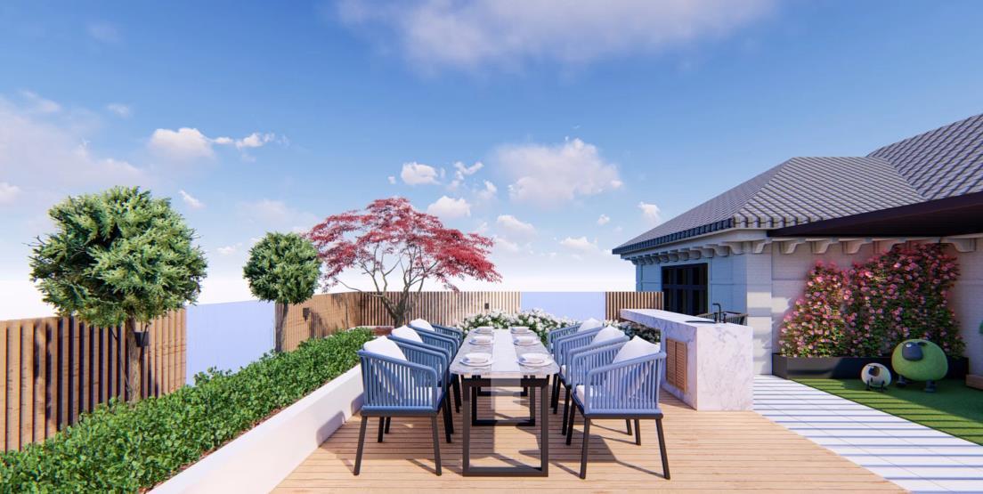 屋顶花园装修,美好生活的栖息地