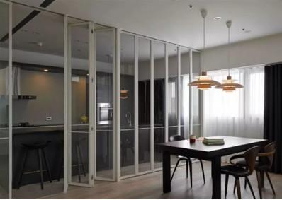 厨房折叠门的优缺点,厨房折叠门选择材料